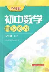 2021年初中数学同步练习九年级数学上册沪科版