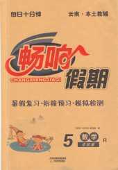 2021年畅响假期(暑假)(云南专版)五年级数学人教版天津教育出版社