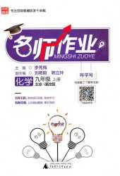2019年名师作业九年级化学上册北京课改版