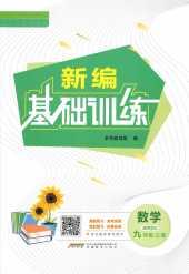 2021年新编基础训练(S)九年级数学上册通用版