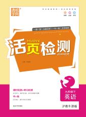 2021年活页检测九年级英语下册沪教牛津版