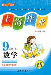 2021年上海作业九年级数学上册上海专版