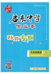 2020年启东中学作业本(苏北专版)九年级物理上册江苏版