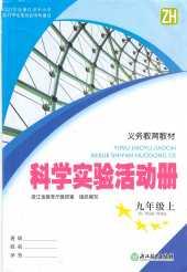 2021年科学实验活动册(ZH版)九年级科学上册