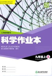 2020年科学作业本A九年级科学上册浙教版(A)