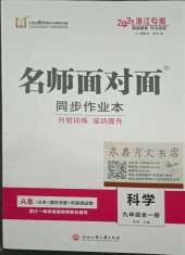 2021年名师面对面同步作业本九年级科学浙江专版