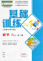 2021年基础训练(河南专版)九年级数学人教版