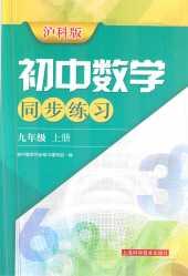 2020年初中数学同步练习九年级数学上册沪科版
